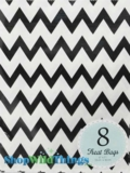"Treat Bag, Chevron, Black, 5"" x 7"", 8 Ct"