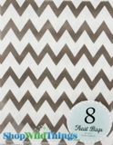 "Treat Bag, Chevron, Gray, 5"" x 7"", 8 Ct"