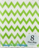 "Treat Bag, Chevron, Green, 5"" x 7"", 8 Ct"