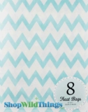 "Treat Bag, Chevron, Light Blue, 5"" x 7"", 8 Ct"
