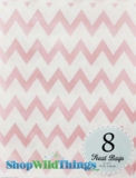 "Treat Bag, Chevron, Light Pink, 5"" x 7"", 8 Ct"