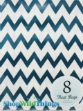 "Treat Bag, Chevron, Navy, 5"" x 7"", 8 Ct"