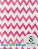 "Treat Bag, Chevron, Pink, 5"" x 7"", 8 Ct"