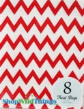 "Treat Bag, Chevron, Red, 5"" x 7"", 8 Ct"