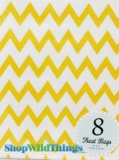 "Treat Bag, Chevron, Yellow, 5"" x 7"", 8 Ct"