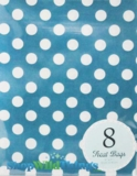 "Treat Bag, Dots, Aqua, 5"" x 7"", 8 Ct"