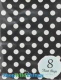 "Treat Bag, Dots, Black, 5"" x 7"", 8 Ct"