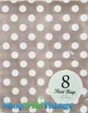 "Treat Bag, Dots, Gray, 5"" x 7"", 8 Ct"