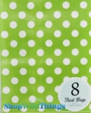 "Treat Bag, Dots, Green, 5"" x 7"", 8 Ct"