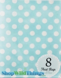 "Treat Bag, Dots, Light Blue, 5"" x 7"", 8 Ct"