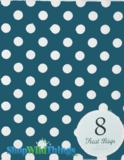 "Treat Bag, Dots, Navy, 5"" x 7"", 8 Ct"