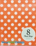 "Treat Bag, Dots, Orange, 5"" x 7"", 8 Ct"
