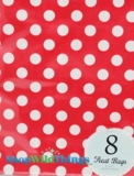 "Treat Bag, Dots, Red, 5"" x 7"", 8 Ct"