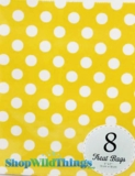"Treat Bag, Dots, Yellow, 5"" x 7"", 8 Ct"