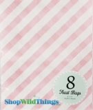 "Treat Bag, Stripes, Light Pink, 5"" x 7"", 8 Ct"