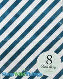 "Treat Bag, Stripes, Navy, 5"" x 7"", 8 Ct"