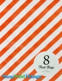 "Treat Bag, Stripes, Orange, 5"" x 7"", 8 Ct"