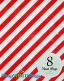 "Treat Bag, Stripes, Red, 5"" x 7"", 8 Ct"