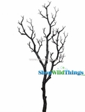 "Tree Branch, Black Glitter, Bendable - Manzanita 40"" Tall"