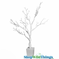 Tree in Pot, 3 Feet Tall - Bright White (Bendable!)
