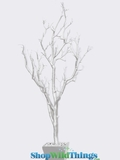 Tree in Pot, 3 Feet Tall - Silver (Bendable!) Manzanita