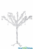 "Tree ""Wonderland"" Silver Sparkle with Crystal Garlands - 2 Feet Tall"
