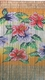 Tropical Flower Beauty Bamboo Painted Beaded Curtain