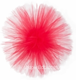 "Tulle Ball Pom Poms-  10"" Red -  Set of 4"