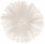 "Tulle Ball Pom Poms-  12"" Ivory -  Set of 4"