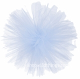 "Tulle Ball Pom Poms-  12"" Light Blue -  Set of 4"