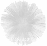 "Tulle Ball Pom Poms-  12"" White -  Set of 4"