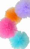 Tulle Pom Pom Balls - Sets of 4 - 3 Sizes Available