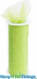 "Tulle Roll w/Glitter, Apple Green 6"" x 10 yds"
