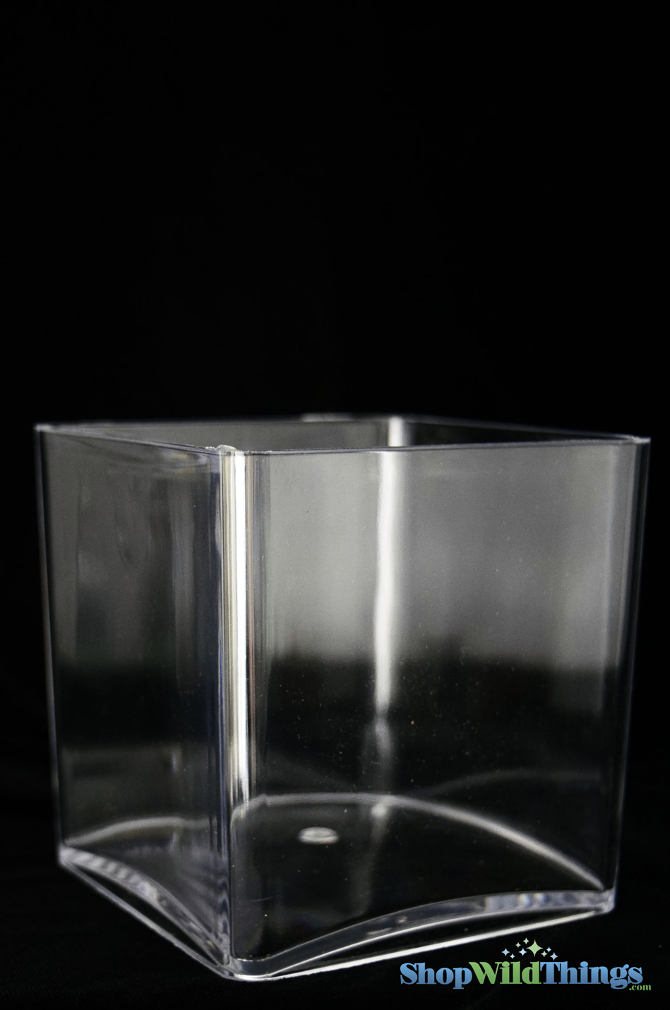Plastic Acrylic Vases Square Cube 4 Inches Party Supply And Decor