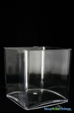 Vase - Acrylic Square - 4in x 4in x 4in - Lightweight