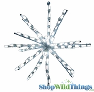 "Venus LED Starburst 24"" Pure White - Commercial Use - Indoor/Outdoor"