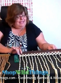 VIDEO: Trimming The Width of Bamboo or Wood Beaded Curtains