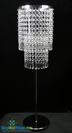 """Vienna"" Tall Tabletop Crystal Candle Holder 27"""