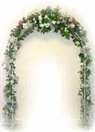 Wedding Arch 7.5' Tall, Plain White Tubular