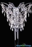 Centerpiece Topper Large - Sparkling Crystal Beads w/Silver Frame, 14""