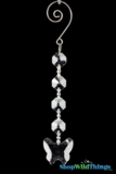 "Crystal Hanging Prism, Glass -Crystal Strand 6"" - ""Butterfly"" Set of 12 - Clear"