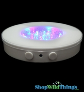 "White Base 6"" Super Bright LED Color Changing (or just White!) Light Base"