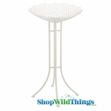 "CLEARANCE  - White Display Bowl on Stand - 37"" Tall (Medium)"