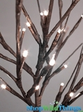 "Willow Branches 20"" w/ 60 LED Lights - Electric Plug  - Brown"