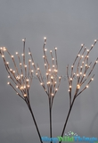 "Willow Branches 40"" w/ 96 LED Lights - Electric Plug - Brown"