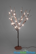 "Willow Tree 20"" w/30 LED Lights on Resin Base - Battery Operated (or plug) - Brown Tree"