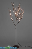 "CLEARANCE Willow Tree 28"" w/48 LED Lights on Resin Base - Battery Operated (or plug) - Brown Tree"