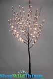 "Willow Tree 52"" w/160 LED Lights on Resin Base - Electric Plug - Brown Tree"