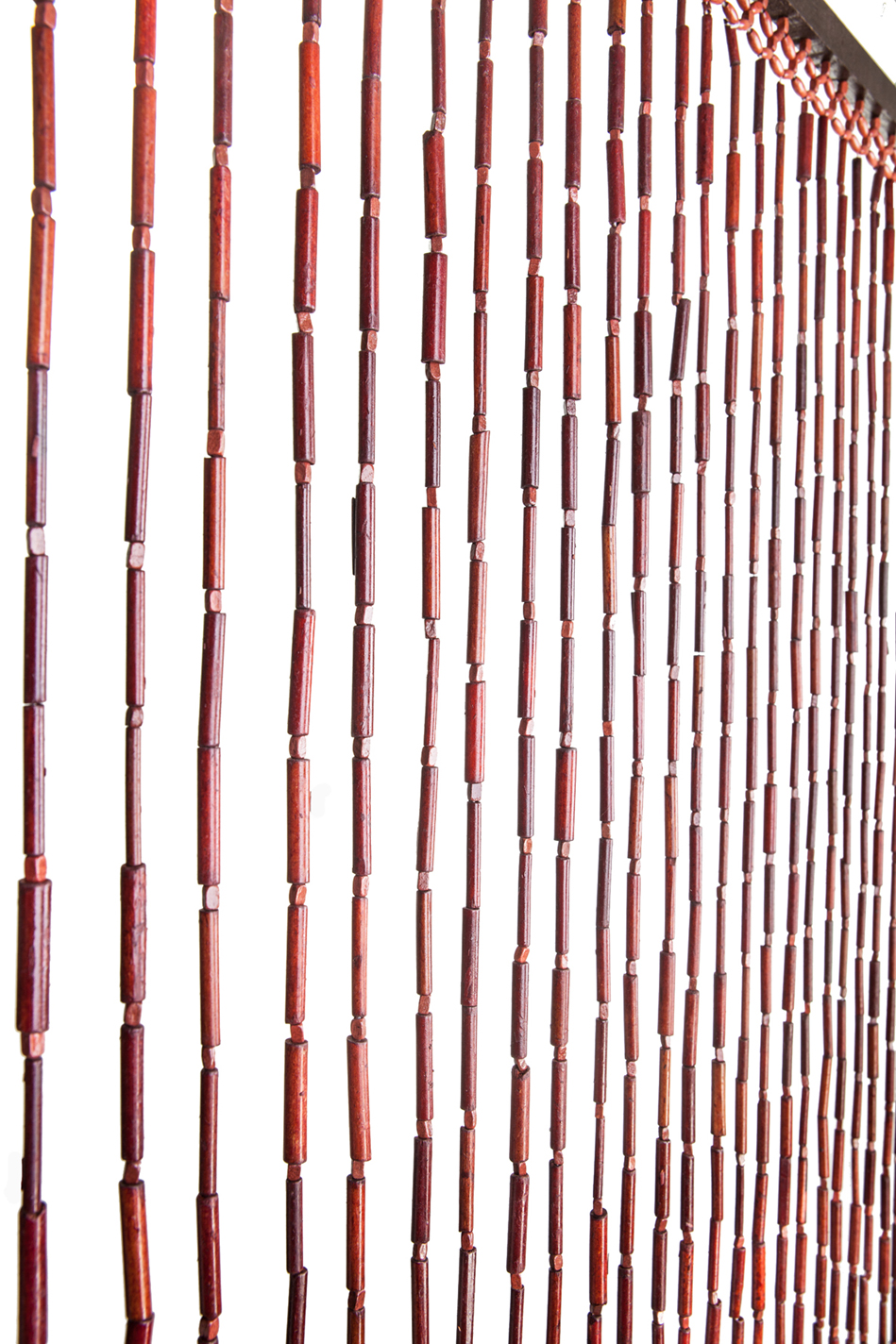 beaded curtain bamboo and wooden eclectic hippy