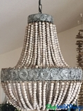 "Chandelier ""Coco"" Wooden Beaded Strands - 20"" x 23"""